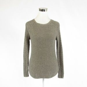 Ann Taylor LOFT taupe ribbed sweater XS